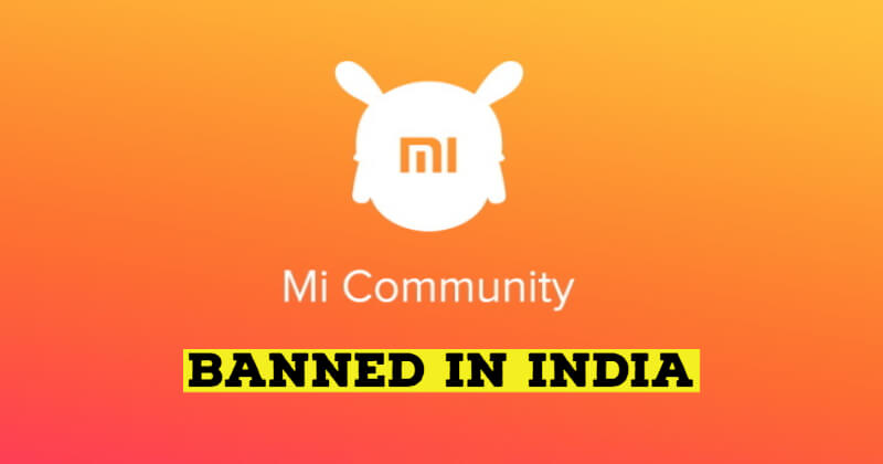 Mi Community Website and App Temporarily Blocked in India
