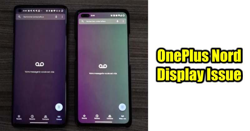 OnePlus Nord Users Complains about Display Tinting Issue