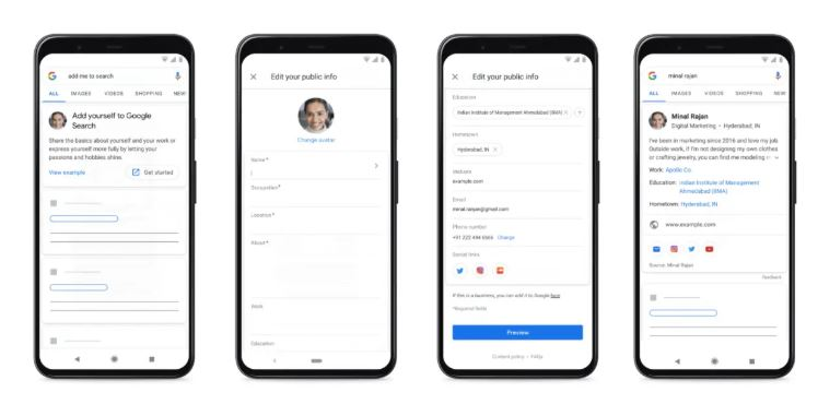 Google Launches 'People Cards' feature to Build Public Profile