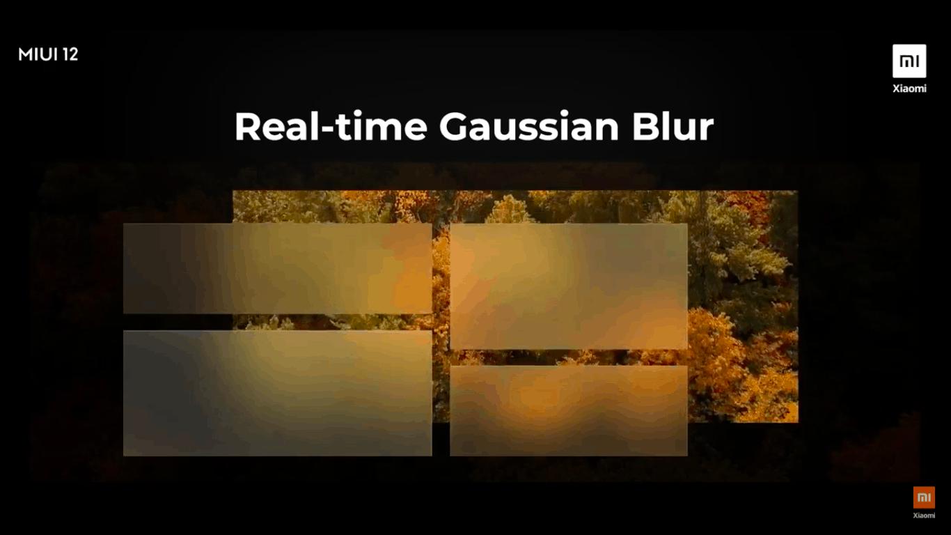 iOS Gaussian blur