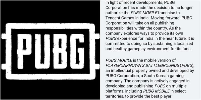 PUBG Corp. has taken All Rights from Tencent Games