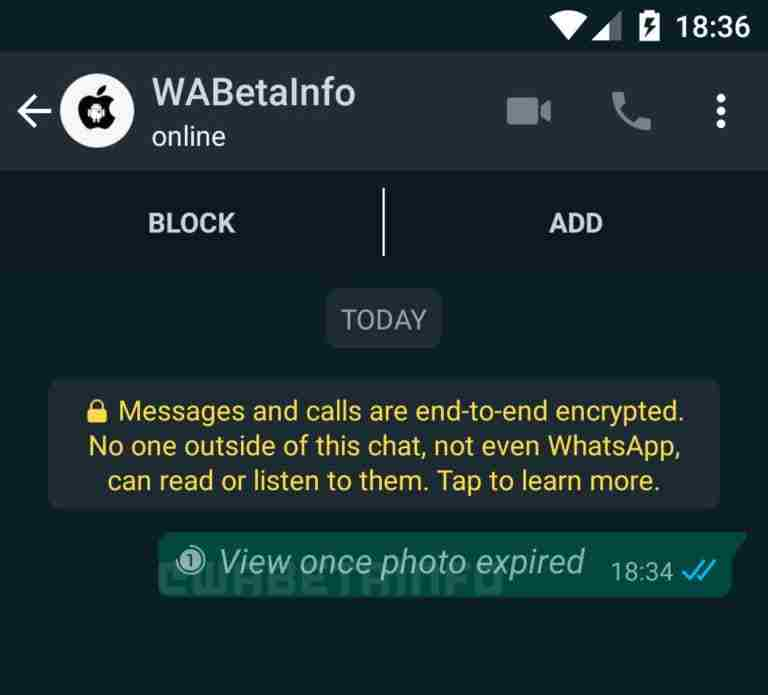 Whatsapp Working on a Snapchat like Expiring Media Feature
