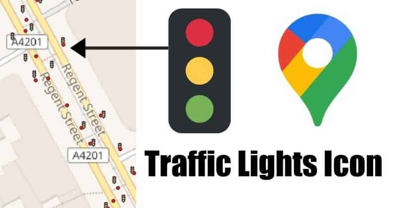 traffic light icons are now showing up on Google Maps.