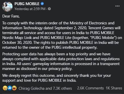 PUBG Mobile Servers to Shut in India From Today