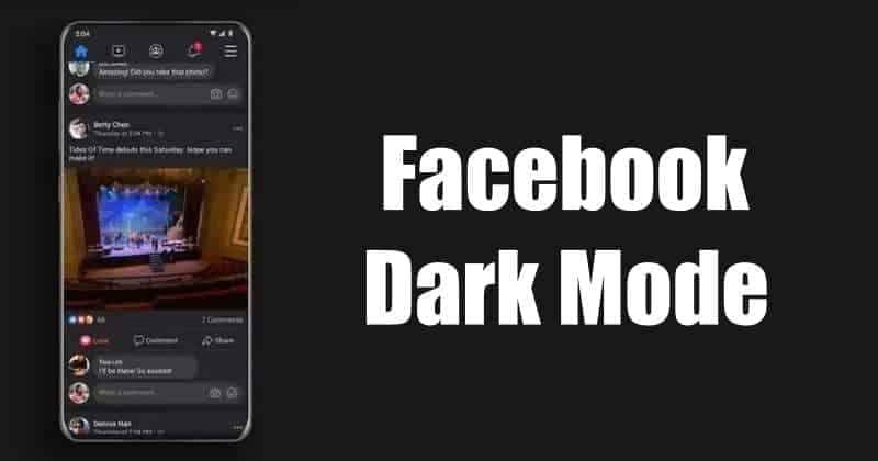 Facebook dark mode rolling out