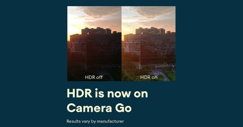 Camera Go app gets HDR support