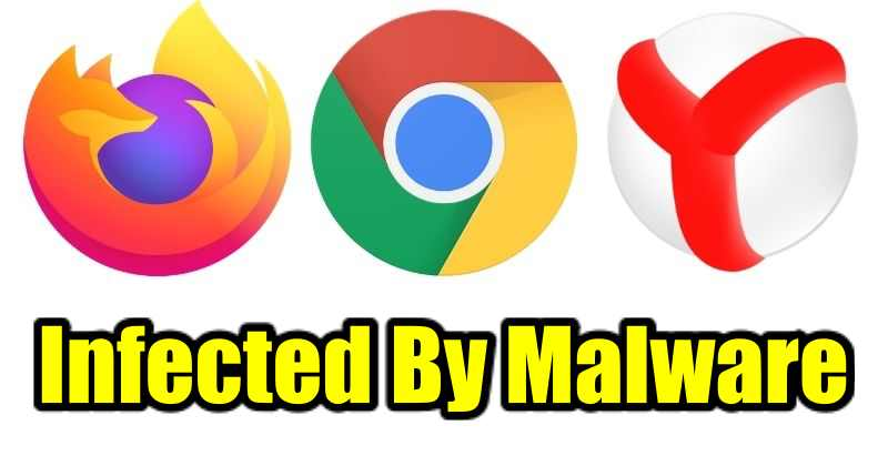 Web browsers infected by malware