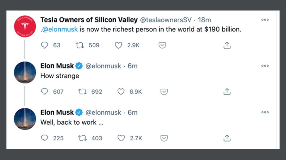 Elon Musk's Reaction