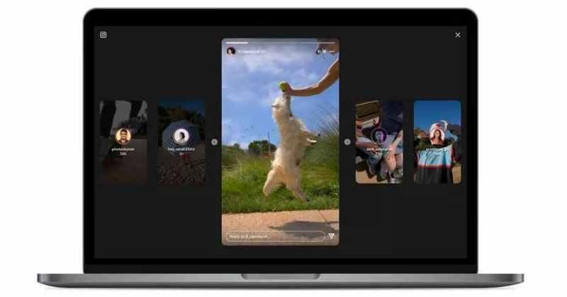 Instagram Stories new Layout on Desktop