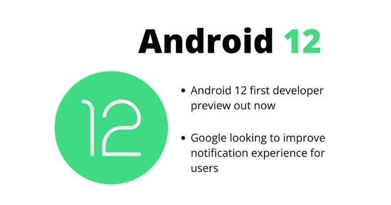Android 12 Developer Preview 1 Released