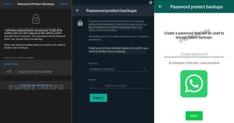 WhatsApp Update: Working on Password Protected Chat Back-up Feature