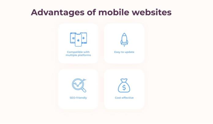 Advantages of mobile websites
